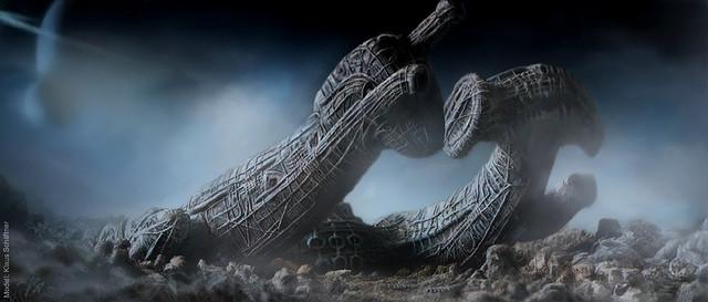 vaisseau Derelict du film Alien de Ridley Scott