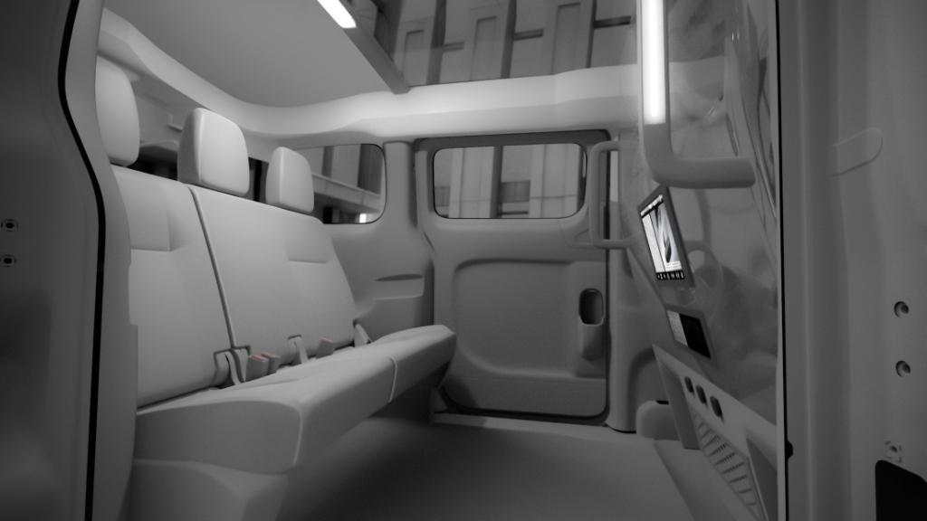 intérieur du nouveau taxi nissan prévu pour 2013