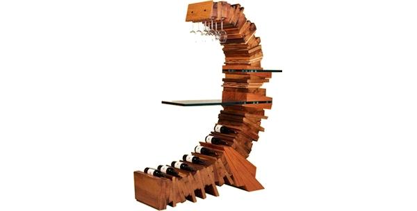 bar à vin design Nexton Vineyard imaginé par Claire Danthois