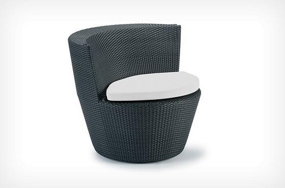 chaise design en résine tressée