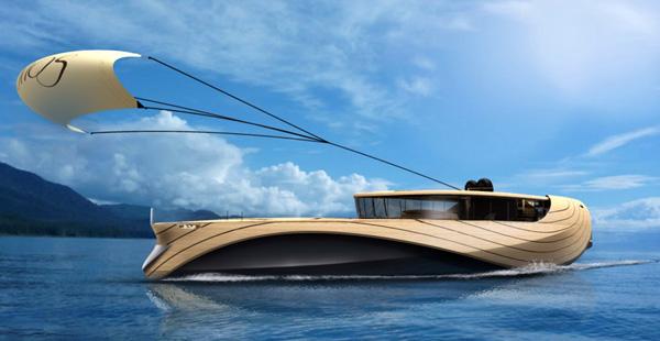Un Yacht De Luxe Quip D 39 Une Voile Cerf Volant Mon Coin Designmon Coin Design