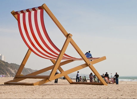la chaise géante de Bournemouth