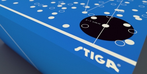 Une table de ping-pong design et high-tech