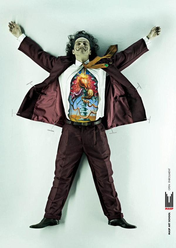 affiches de Salvador Dali par DDB Brazil