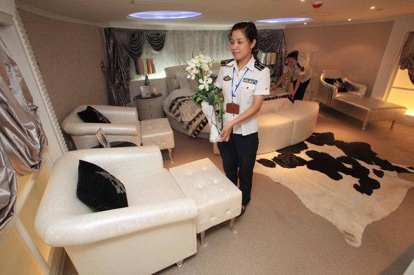 hotel chinois insolite installé dans un navire militaire