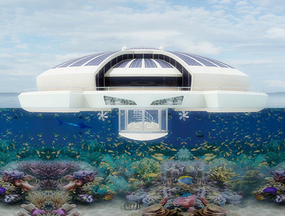 solar floating resort une maison futuriste flottante mon coin designmon coin design. Black Bedroom Furniture Sets. Home Design Ideas