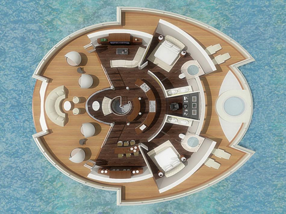 maison circulaire flottante