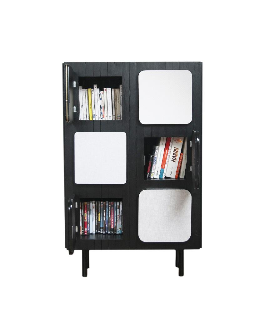 meuble pour livres six portes par l'Atelier 4/5