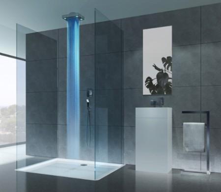 La salle de bain de vos r ves est la mon coin design - Douche italienne bleue ...