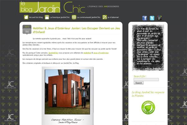 Blog-JardinChic, mobilier d'extérieur design