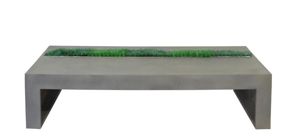 table basse en béton style loft et green design