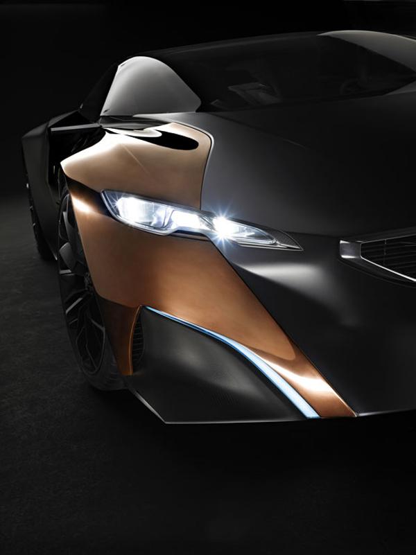 peugeot Onyx le concept-car sportif présenté pour le salon de l'automobile 2012
