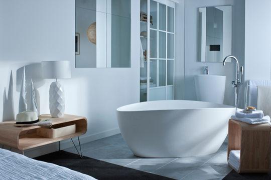 Une salle de bain design sinon rien mon coin design - Galet leroy merlin ...