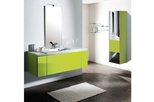salle de bain design verte
