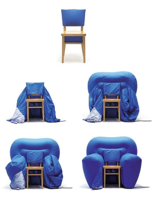 Matali crasset signe un fauteuil design tr s gonfl mon for Chaise gonflable