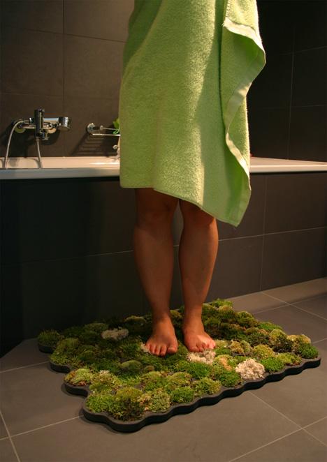 tapis de salle de bain en mousse