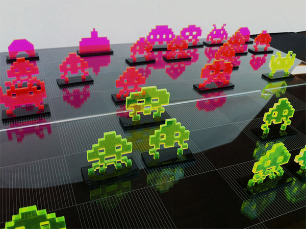 échiquier space invaders